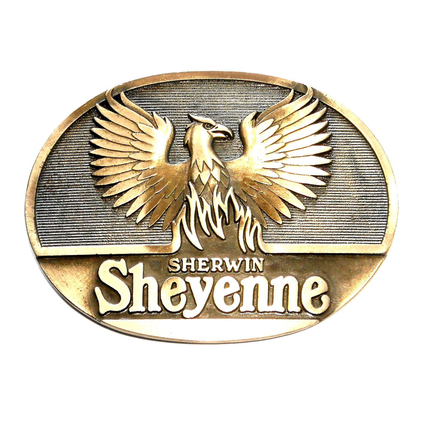 Sherwin Sheyenne Award Design Brass Belt Buckle