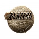 Portland Trail Blazers NBA Basketball Vintage Great American US Pewter Belt Buckle