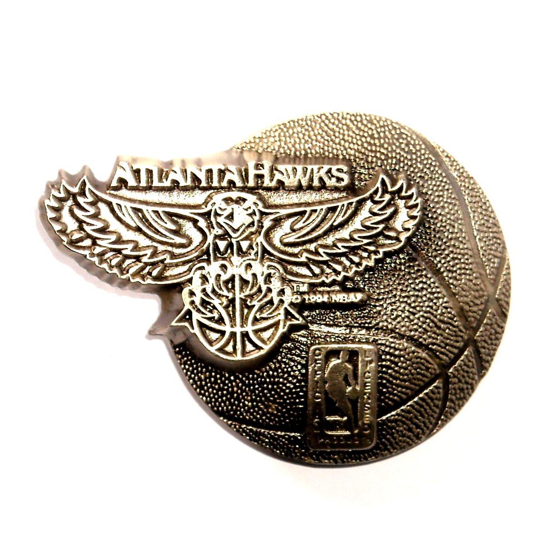 Atlanta Hawks NBA Basketball Vintage Great American US Pewter Belt Buckle