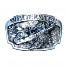 White Water Vintage Siskiyou Solid Pewter Belt Buckle