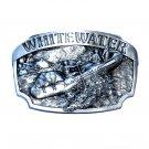 White Water Vintage Siskiyou Solid Pewter Belt Buckle