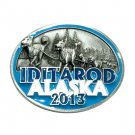 Alaska Iditarod Race 2013 Color Siskiyou Solid Pewter Belt Buckle