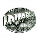 Alaska Dog Sled Race Iditarod 2014 Siskiyou Solid Pewter Belt Buckle