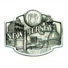 New Jersey Garden State Seal Siskiyou Pewter Belt Buckle