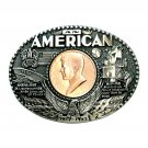 John F Kennedy First Edition Award Design Brass Belt Buckle
