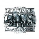 2012 Alaska Dog Sled Race Iditarod 3D Siskiyou Pewter Belt Buckle