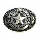 State Of Texas Vintage Tony Lama Solid Brass US Belt Buckle