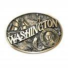 Washington State Seal Award Design ADM Brass Belt Buckle