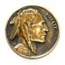 Indian Head Heritage Mint Solid Brass Vintage Belt Buckle