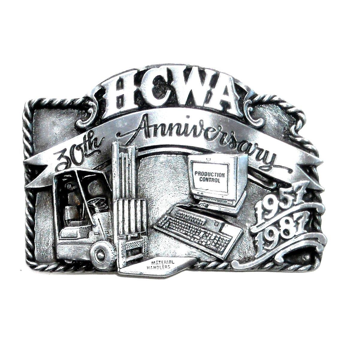Hesston HCWA 1987 Vintage Bergamot US Pewter Belt Buckle