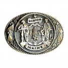 Maine State Seal Tony Lama First Edition Brass Belt Buckle