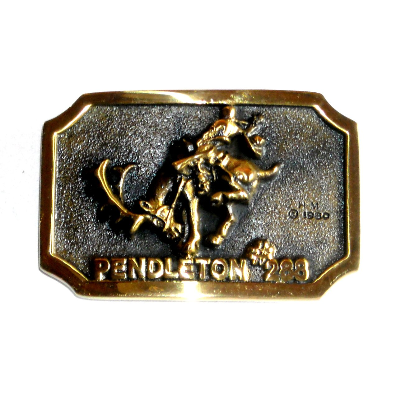 Pendleton Heritage Mint Solid Brass Vintage 1980 Belt Buckle