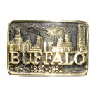 Buffalo Heritage Mint Solid Brass Vintage 1981 Belt Buckle