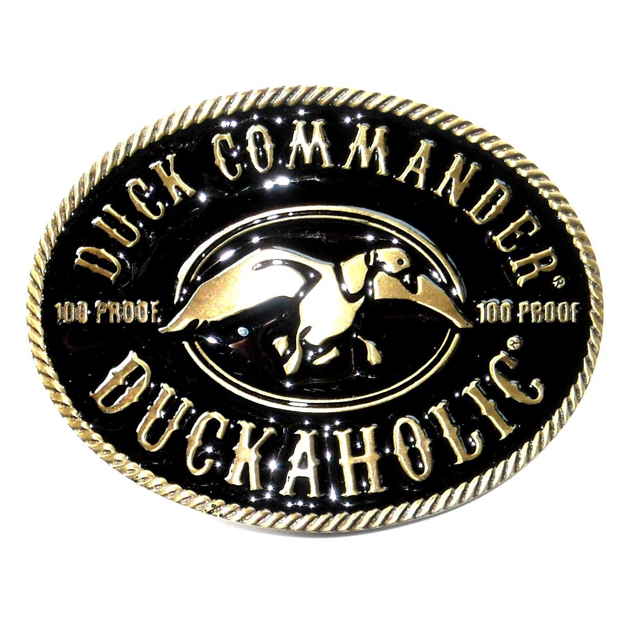 Duck Commander 100 Proof Duckaholic Montana Silversmiths Belt Buckle