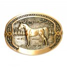 Arabian Horse Tony Lama Breeder Series Brass Belt Buckle