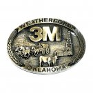 3M Weatherford Oklahoma ADM Solid Brass Belt Buckle