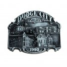 Dodge City Kansas 1992 Vintage Bergamot Pewter US Belt Buckle
