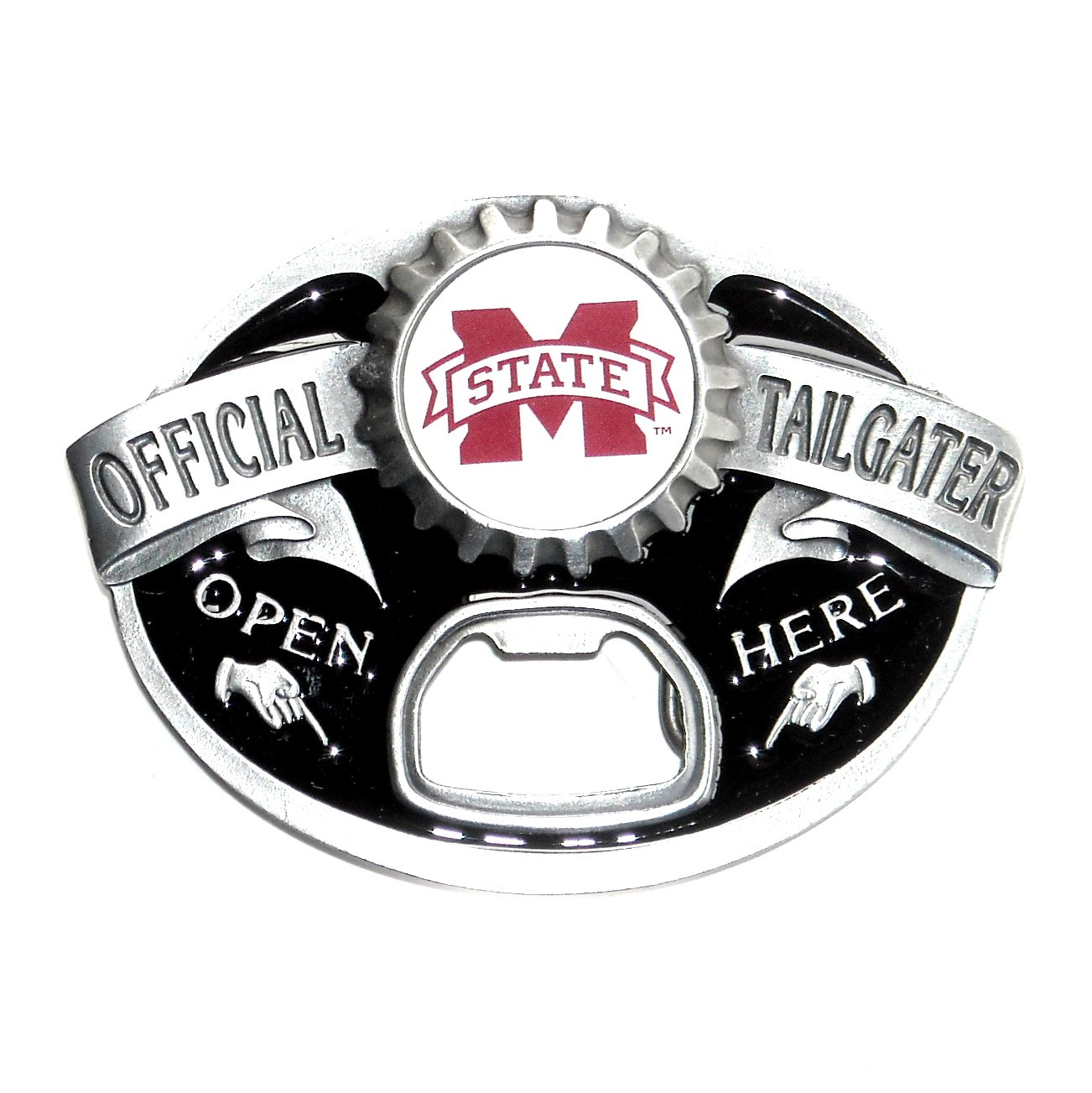 Mississippi State Bulldogs Tailgater Pewter Belt Buckle