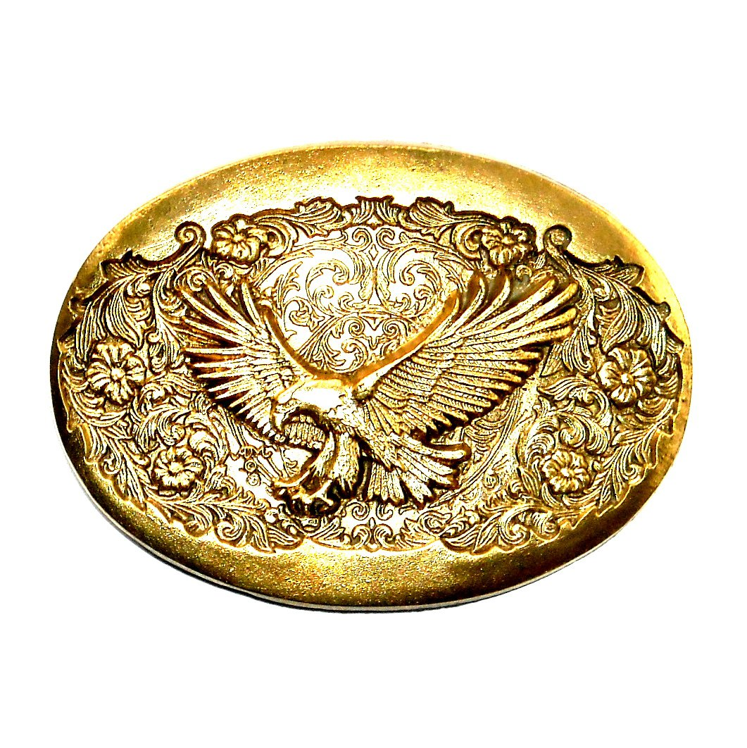 Eagle Flying Free Montana Silversmiths Solid Brass Standard Belt Buckle