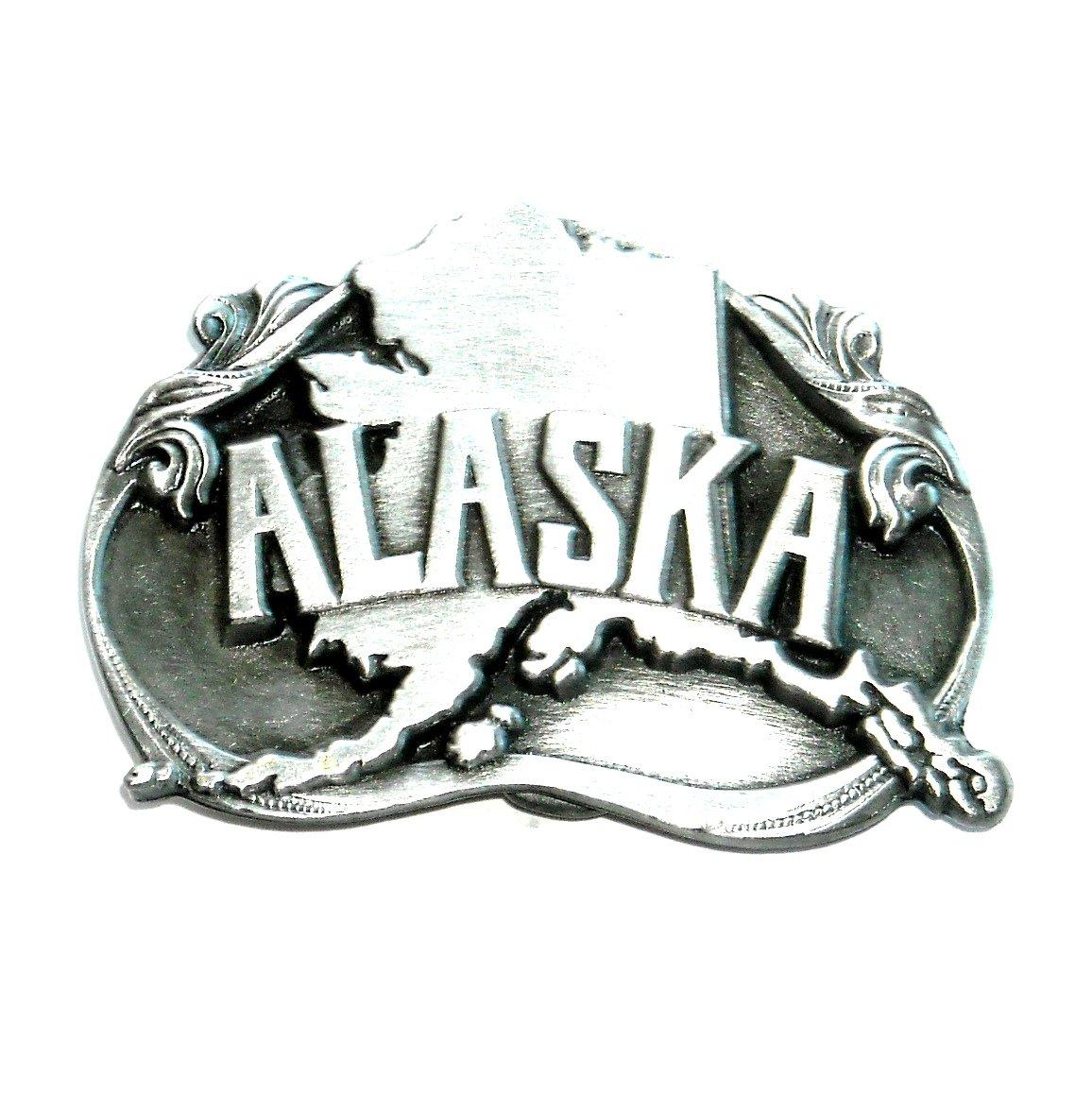 Alaska Siskiyou Bergamot 1984 Solid Pewter Belt Buckle