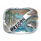 Oregon Color Vintage Bergamot Pewter US Belt Buckle