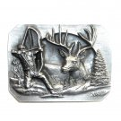 Bowhunters 3D Bergamot Pewter US Belt Buckle