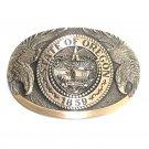 Oregon State Seal Eagle First Edition Vintage Award Design Brass Belt Buckle