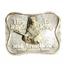 The Right To Keep And Arm Bears Bergamot Silver Color US Belt Buckle