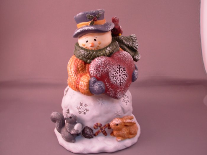 SNOWMAN TEALITE HOLDER CERAMIC NEW CHRISTMAS HOME DECOR HOLIDAY DECOR