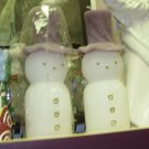 SNOWMEN WAX CANDLES NEW CHRISTMAS HOLIDAY HOME DECOR