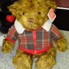 GUND HAGEN BEAR STUFFED PLUSH STUFFED ANIMAL NEW WITH ORIGINAL TAGS LOOKS LIKE A MOHAIR BEAR