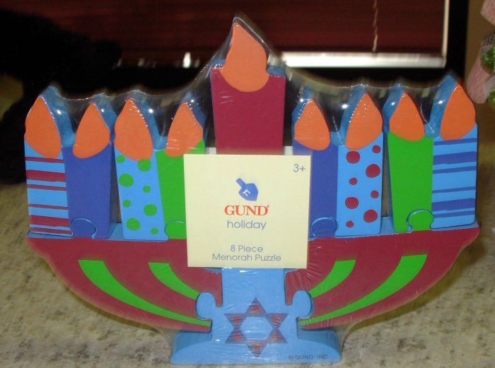 HAPPY HANUKKAH MENORAH WOODEN PUZZLE GUND NEW HOLIDAY GIFT