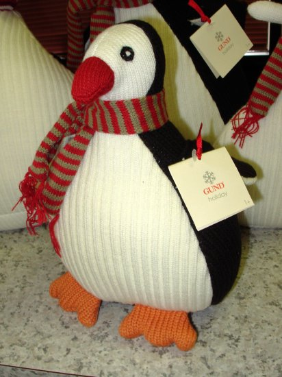 HANDKNIT PENQUIN GUND NEW COUNTDOWN TO CHRISTMAS PLUSH