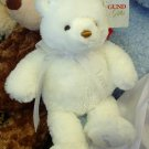 GUND BRIGHTON LOVE PLUSH STUFFED ANIMAL WHITE BEAR GUND NEW RETIRED COLLECTIBLE