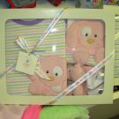 SPUNKY ONSIE BIB SLIPPERS GIFT SET NEW GUND BABY PINK CLOTHING SET