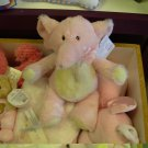 BABY RATTLE PINK PLUSH ELEPHANTGANZ LUVEMS NEW WITH ORIGINAL TAGS SUPER SOFT BABY SAFE