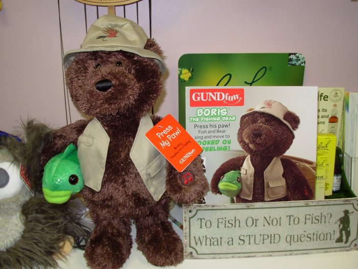 GUND BORIS BEAR FISHING SINGS HOOKED ON A FEELING NWT ANIMATED PLUSH STUFFED ANIMAL FATHERS DAY