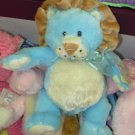 BABY RATTLE GANZ LUVEMS LITTLE BLUE LION RATTLE PLUSH STUFFED ANIMAL NEW WITH ORIGINAL TAGS