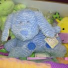 STUFFED ANIMAL BUTTON BUDDIES BLUE CHENILLE PUPPY DOG BABY GANZ NEW WITH TAGS CRINKLES POSEABLE