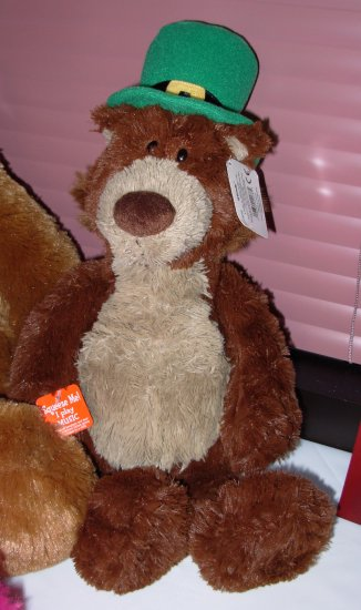 GUND OGRADY STUFFED PLUSH ANIMAL BEAR ANIMATED AND SINGS WHEN IRISH EYES ARE SMILING NEW WITH TAGS