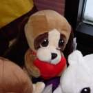 PUPPY DOG HEART TUGGER WITH A BIG RED HEART AND BIG SAD EYES STUFFED PLUSH ANIMAL GANZ NEW