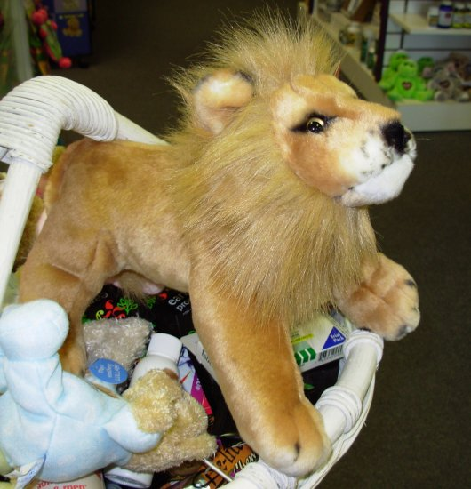 LION GANZ JUNGLE CATS LION STUFFED PLUSH ANIMAL NEW WITH TAGS