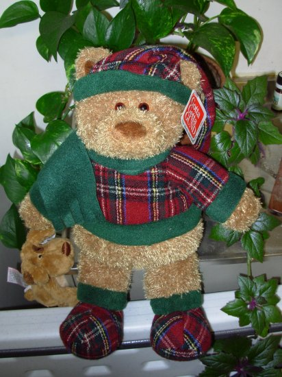 GUND STRATON RETIRED PLUSH STUFFED ANIMAL BEAR NEW WITH ORIGINAL TAGS DRESSED FOR WINTER