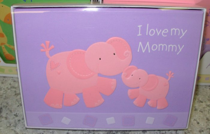 GUND PHOTO ALBUM BRAG BOOK HUGS AND KISSES I LOVE MY MOMMY BABY PHOTO ALBUM GUND NEW