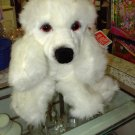 GUND POODLE PLSUH TRIXY WHITE POODLE PLUSH STUFFED ANIMAL PUPPY DOG NEW WITH TAGS GUND