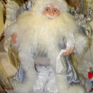 SILVER SANTA GANZ COTTAGE COLLECTION RETIRED 2004 FIGURINE COLLECTIBLE CHRISTMAS HOLIDAY DECOR