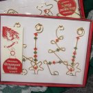 ORNAMENT HOOKS SET OF 4 WIRE AND BEAD ORNAMENT HOOKS HANGERS CHRISTMAS HOME DECOR NEW