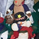 STACKING SNOW PALS MOOSE SNOWMAN SANTA DOORSTOP NEW GANZ CHRISTMAS HOME DECOR