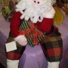 SANTA SHELF SITTER CHRISTMAS PLUSH HOLIDAY HOME DECOR NEW WITH TAGS GANZ