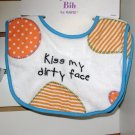 BABY BIB BURPCLOTH KISS MY DIRTY FACE BABY BABBLE GANZ NEW